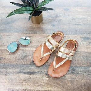 Joie A La Plage - Metallic Flat Thong Sandals
